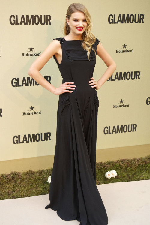 aclockworkpink:  Lily Donaldson at Glamour's 10th anniversary party, 2012
