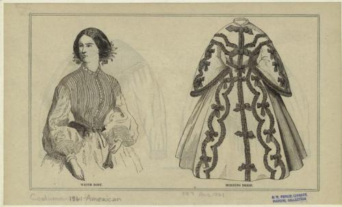 Bodice and morning dress, Aug 1861 US, Peterson's Magazine