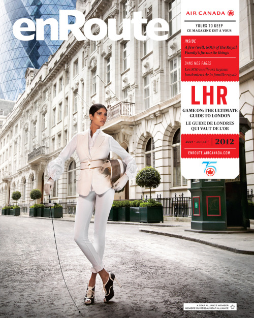 enroutemagazine:  En garde! As host to the 2012 Summer Olympic Games, London is sure to pique your interest. We've got the city covered in this month's issue.En garde! Ville hôte des Jeux olympiques d'été de 2012, Londres a de quoi vous éperonner. Elle est le sujet de notre numéro de ce mois-ci. Photo by / par Mark Sanders. See more from our July 2012 issue.Découvrez le reste de notre numéro de juillet 2012.  That Simon is hot
