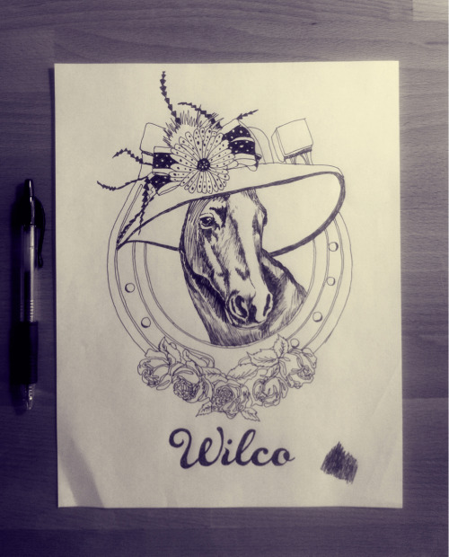 Original pen and ink illustration used in my upcoming wilco gigposter.