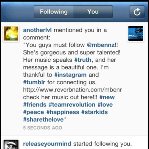 This is love and I'm humbled and inspired. Spread #love and #light www.reverbnation.com/Mbennz #indigochildren #starkids #teamrevolution  (Taken with Instagram)