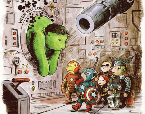 Just found this on the internet…. that's SOOOO adorable! The Avengers meet Winnie The Pooh.