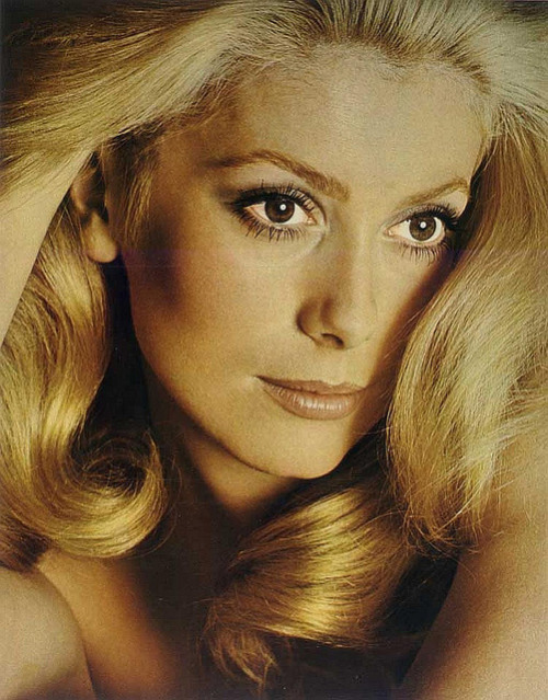 Catherine Deneuve Actress Catherine Deneuve, Photographed by David Bailey for French Vogue, May 1970.