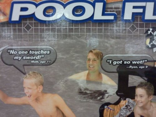 "Dirty Pool Toy ""Mom! I got a job at the pool toy company!"" - Caption Writer, age 15"