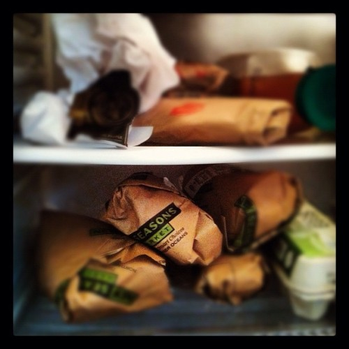 Fridge is full.  (Taken with Instagram)