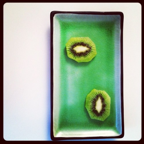 Kiwi for breakfast.  (Taken with Instagram)