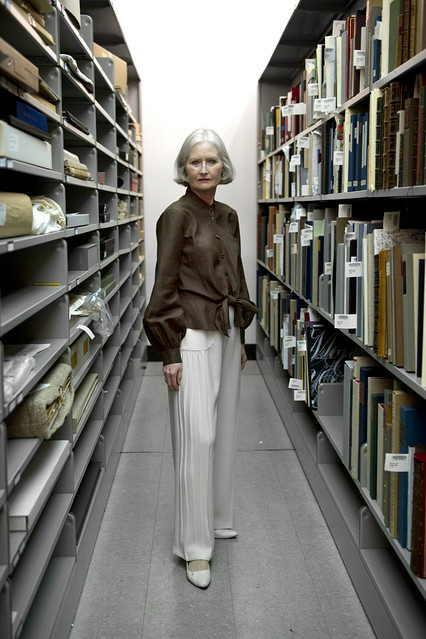 "The Wallstreet Journal covers Work Wear at the NYPL! This is Vicki Steele, the Director of Collections Strategy, and the person who mainly curates the pre-show collection LIVE guests will see when they're invited on stage (also one of the sharpest and kindest people at the library). Depending on the guest's interests and work, Vicki will go through our special collections and hand-pick items such as Walt Whitman's Blue Book or a lock of Mary Shelley's hair. Also, a quote from the slideshow: ""Employees involved in special events—such as the 'Live from the NYPL' series—tend to dress formally."" So, why weren't we in the slideshow? HMMMM? pssst, this is the shirt I'm wearing today:"