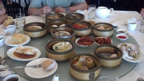 Dim sum with the family. I think we ordered a bit to much!