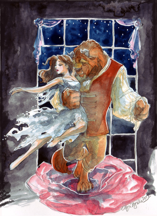taijavigilia:  Beauty and the Beast based on the 1992 Oscars performance.  This came about from an exchange of notes on deviantArt, credit to Abranime to linking me to the youtube clip.  I remember seeing the award show as a kid and when the scene from Beauty and the Beast was played as a nominee for best film category my jaw just dropped to the floor but I had honestly forgotten all about the musical numbers.