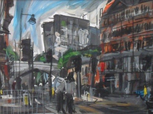 Near The Corner House, Oxford RoadMixed Media on paper40x30cm