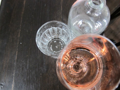 Dinner, June 21, 2012. A glass of rosé…