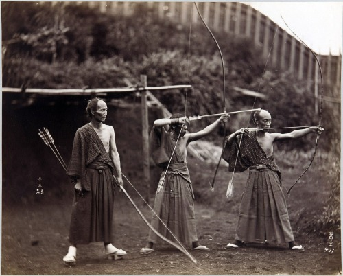 nazimsesen:  Three archers, Japan, ca.1860-1900