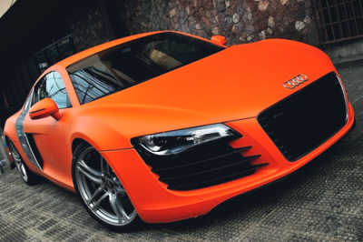 johnny-escobar:  Matte Orange Audi R8