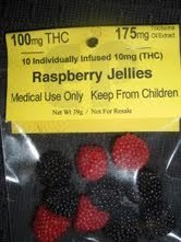 MMmMm Edi-pure Medicinal yumminess!! Raspberry Drops! 100mg THC $14! For Medical Use only!