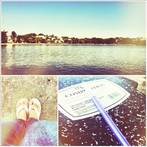 Post work chill time. #charleston #writing  (Taken with Instagram)