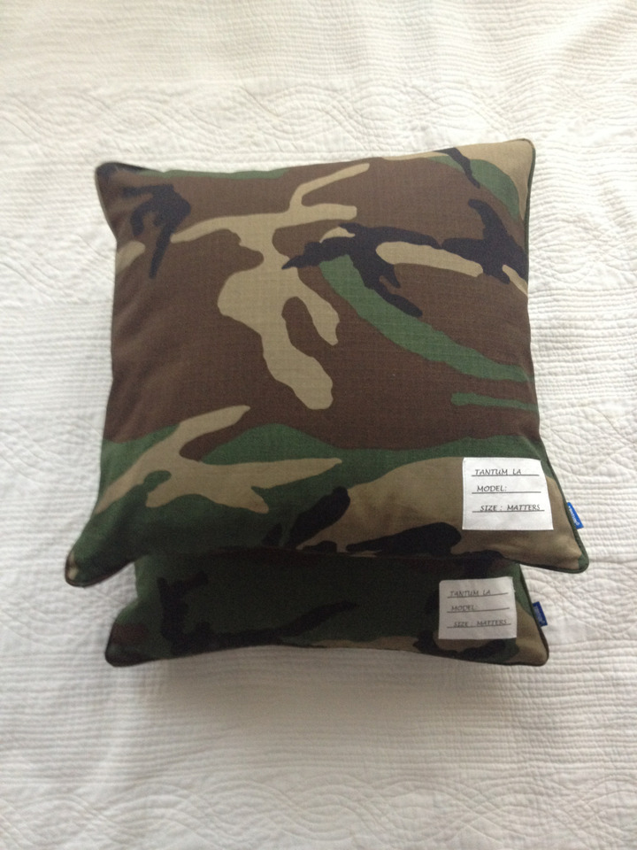Woodland camothrow pillow samples…..