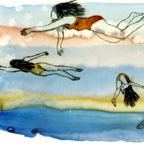 iconoclassic:  (via Swimming : Jillian Tamaki)