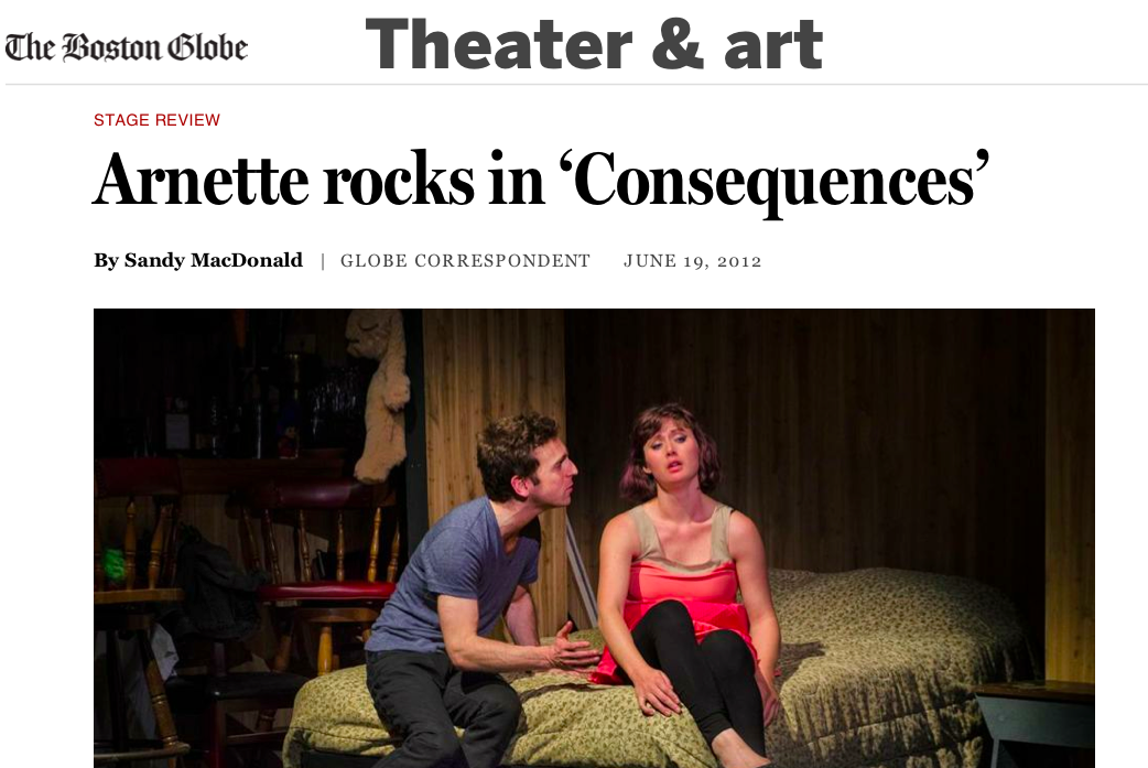Read the full review for THE CONSEQUENCES from The Boston Globe HERE