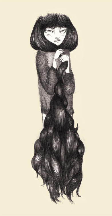 claudiacarrillo:  Need a haircut?   Claudia Carrillo's illustration <3 . I love it