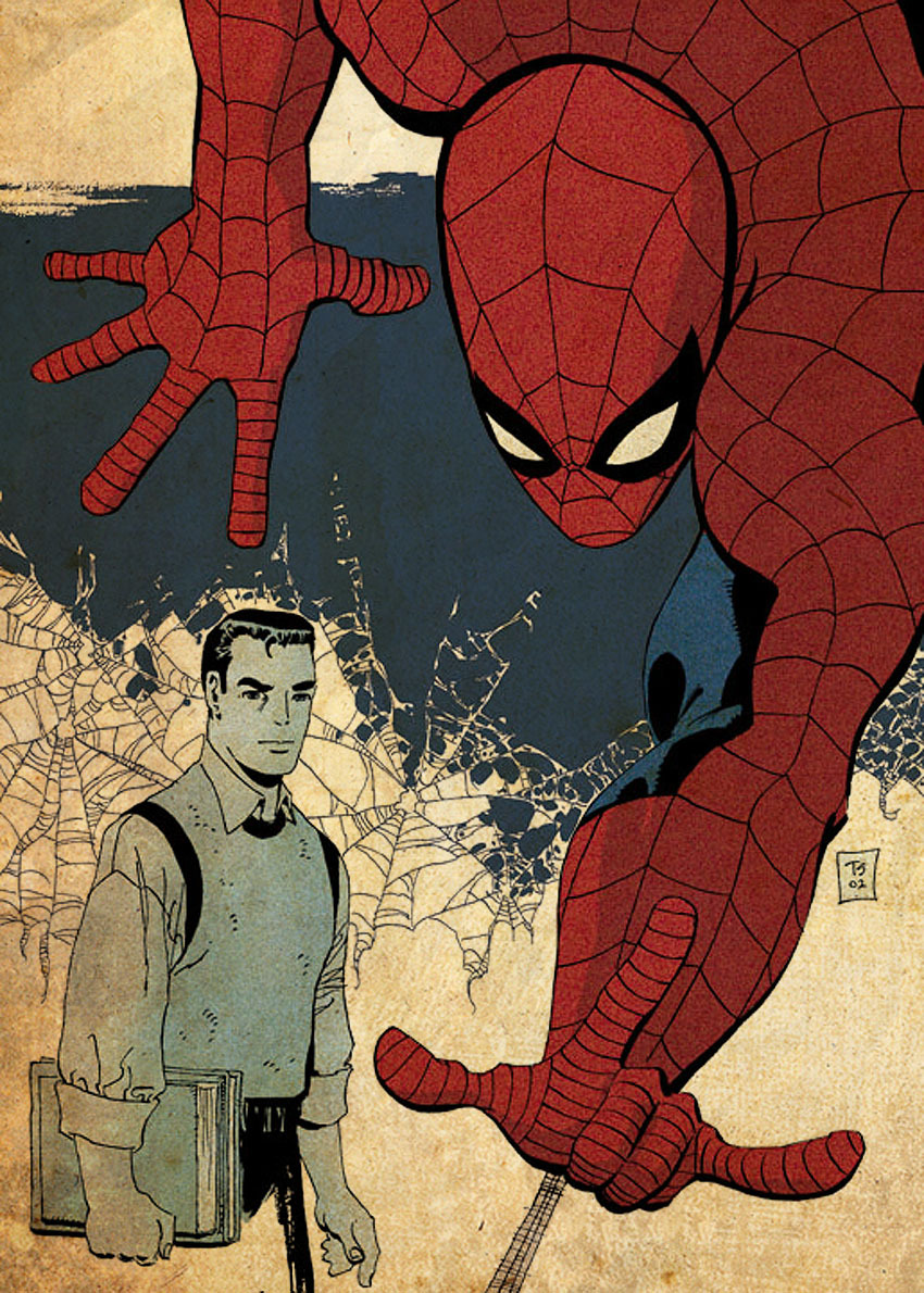 "comicbookartwork:  Spider-Man: Blue It's Valentine's Day, and Peter Parker describes himself as feeling ""blue"". Gwen Stacy, one of Peter's true loves, died a while ago, but he still feels blue for her to this day. So, Spider-Man recounts into a tape recorder how Gwen and he fell in love."