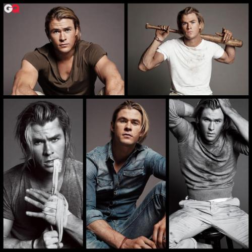 Thank you GQ, we've died and gone to Chris Hemsworth heaven!