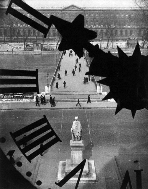 undr:  André Kertész Clock of the Academie Francaise 1932