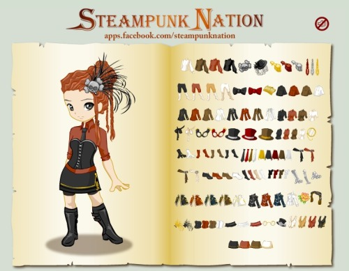 I think she's cute! Now I want a skull hair clip, lol. You can play here.