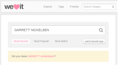 Garrett  Nickelodeon! OF COUSE I MEANT IT, thank you. no