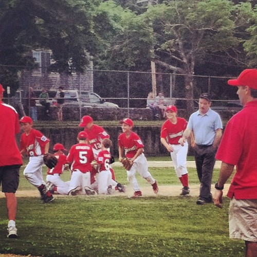 And they won the champ woo hooooooo #baseball #littleleague #narragansett  (Taken with Instagram)