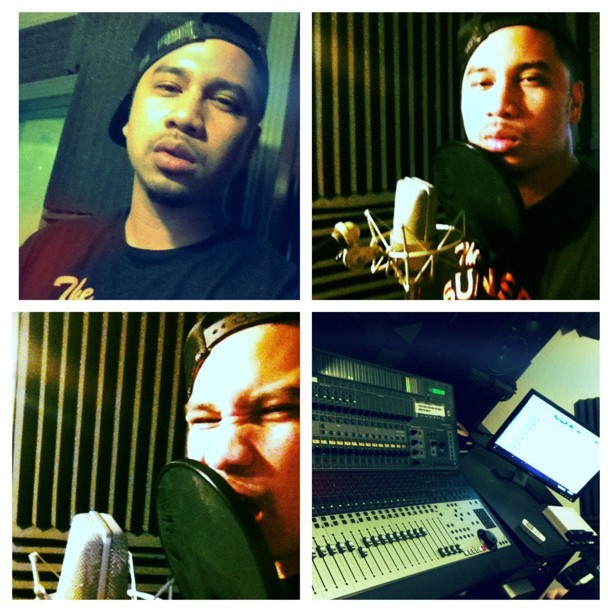 #picstitch just hit the lab & dropped a 16 for the lil homies…. #OneTake #OneShot #MC #Spit #OnSite #Scruffy #whateverwednesday #SYS #sunset  (Taken with Instagram)