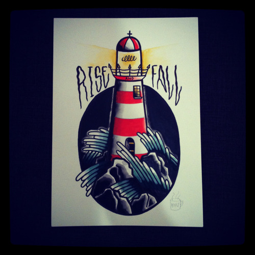 Lighthouse. A4 size.