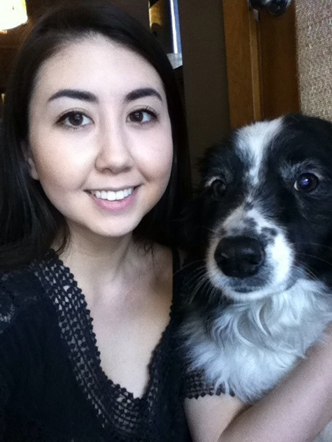 me and my puppy oreo :)