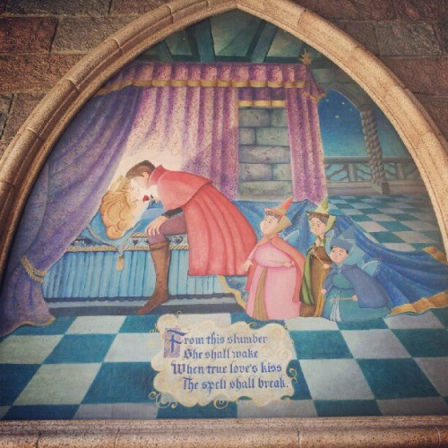 Castle time! One of my favorites: Sleeping Beauty. #Disneyland  (Taken with Instagram)