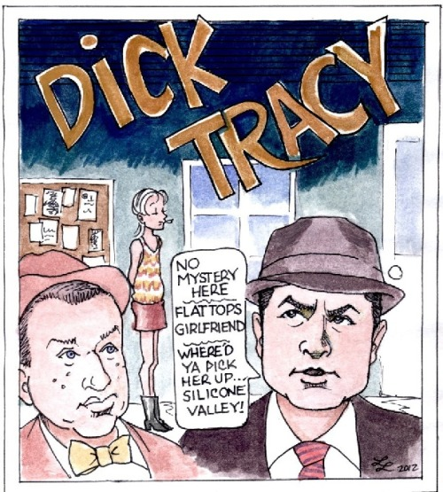 A Dick Tracy Two and a Half Men mash up by Linda Leonhardt