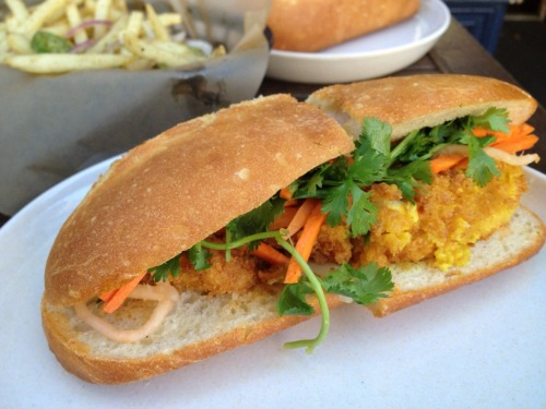 Hanoi Crispy Catfish sandwich from Bun Mee, SF