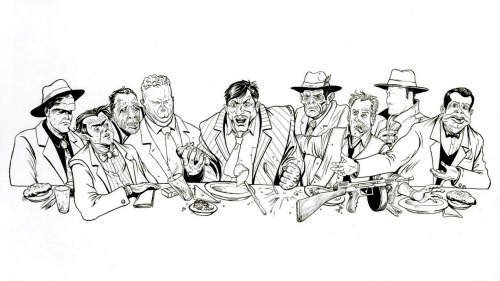 Dick Tracy's last supper by Marco DiLeonardo http://marcodileonardo.com