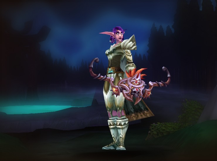 Ambassador Syannia Female Night Elf Hunter US Uldum [Bonelink Epaulets] [Silver-Thread Cloak] [Bonelink Armor] [Bracers of the Hunter-Killer] [Bonelink Gauntlets] [Cord of Dragon Sinew] [Bonelink Legplates] [Bonelink Sabatons] [Windrunner's Bow]