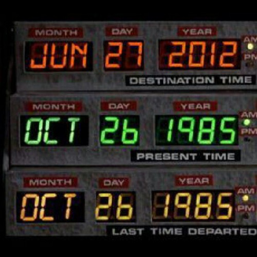 "Today is the day that they set for the future in ""Back To The Future"" #backtothefuture  (Taken with Instagram)"