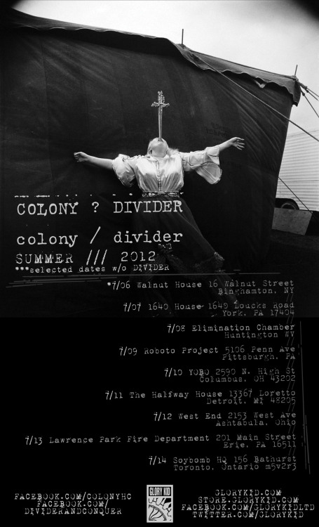 COLONY / DIVIDER TOUR DATES