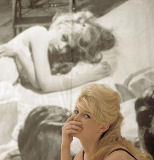 Brigitte Bardot, 1958. Photo by Nicolas Tikhomiroff (via)