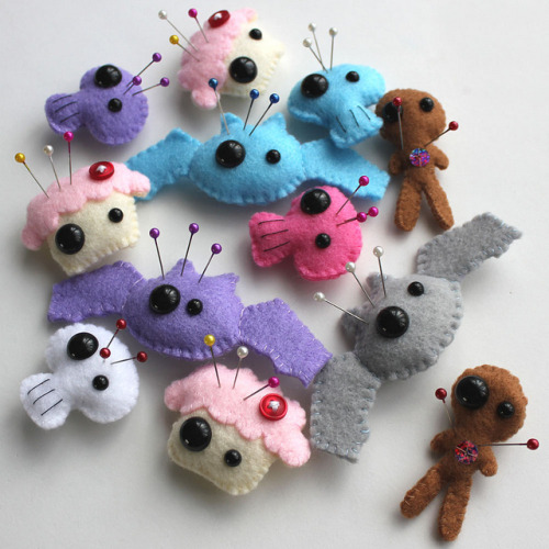 Plush Pin Pals by cutedesigns on Flickr.