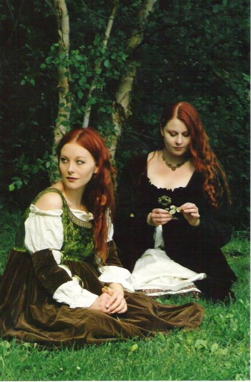 wolfdancer:  Maidens by the Brook ~ Artistic Impressions  So my sister and I acquired a bunch of old sewing patterns (Butterick or some shit) and we are going to attempt to make our own Renn Faire dresses this year.  I'll have to dust the cobwebs off my sewing machine.  Apparently,  this shit is about to get real.