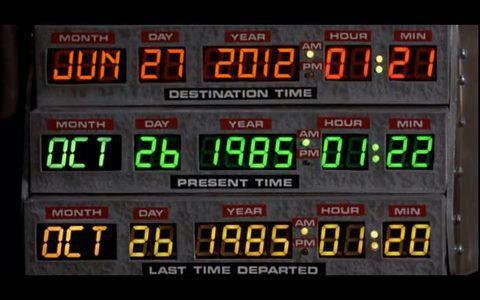 Look at the top date from the delorean in back to the future #MindBlown