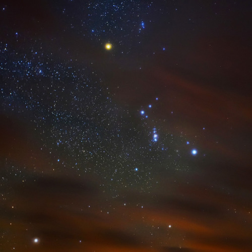 galaxyshmalaxy:  Cloudy Orion. (by Highland Skies)