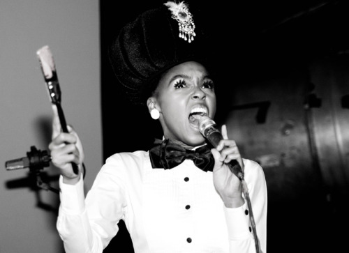 "Hear Janelle Monae Play Two 'Electric' New Songs Live…  Last November, Janelle Monáe told a reporter she'd written ""84.799 percent"" of the material for two new albums, both of which she hoped to release in 2012. The ArchAndroid artist has been a little busy since then, what with her guest appearance on fun.'s ""We Are Young"" topping the charts, an Easter gig at the White House, and live appearances spanning Mexico, New Orleans, and Australia. On Friday night at the Toronto Jazz Fest, though, Monáe busted out a couple of previously unreleased songs: the Hendrix-nodding disco-funk strutter ""Electric Lady"" and the jazz-pop ballad ""Dorothy Dandridge Eyes."" (Listen and More via SPIN…)"
