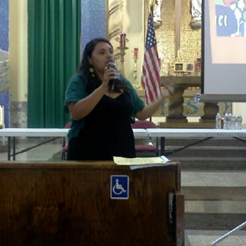 Neidi presenting #right2dream. #unitedWeDream  (Taken with Instagram at La Placita Church)