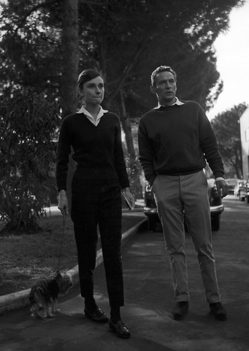 Audrey Hepburn and Peter Finch in Rome, 1958
