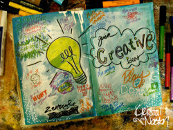 An art journal page to keep some quick creative ideas.