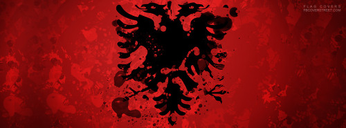 Painted Albanian Flag Facebook Cover