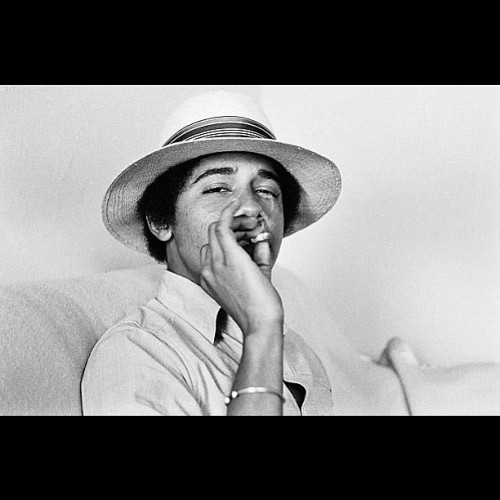 Oh shxt, Obama used to be a stoner! #haha #swag  (Taken with Instagram)